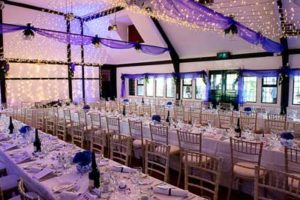 Ballinger Hall -Set up for a Wedding Reception ©Mark-Sisley-Photography