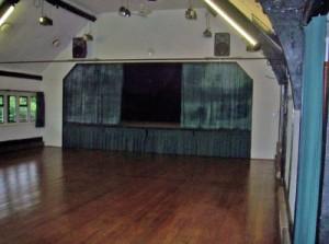 Ballinger village hall stage