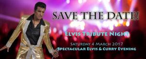 Spectacular Elvis & Curry Evening Ballinger Hall