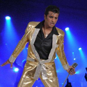 Elvis tribute Sal Bashir, Ballinger Hall Great Missenden Bucks