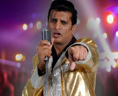 Elvis tribute Sal Bashir, Ballinger Hall Great Missenden Bucks